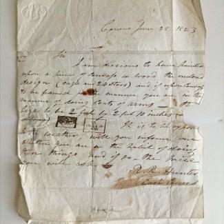 RR Hudson letter